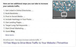 Position zero for website traffic